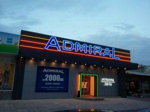 Светеща реклама Адмирал Казино - гр. Пловдив