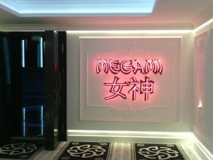"Neon light ""MEGAMI"""