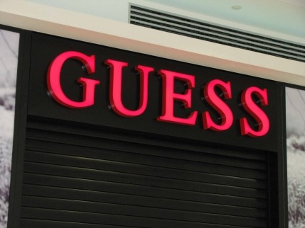 """Illuminated channel letters """"GUESS"""""""