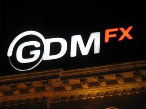 "Обемен светещ надпис - ""GDM FX"""