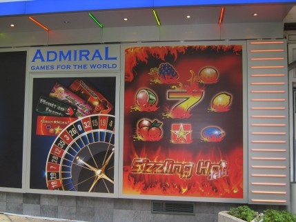 Светеща реклама Адмирал - гр. Шумен