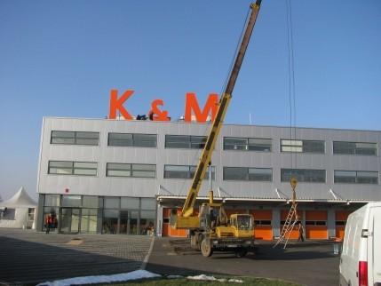 Обемни букви K&M
