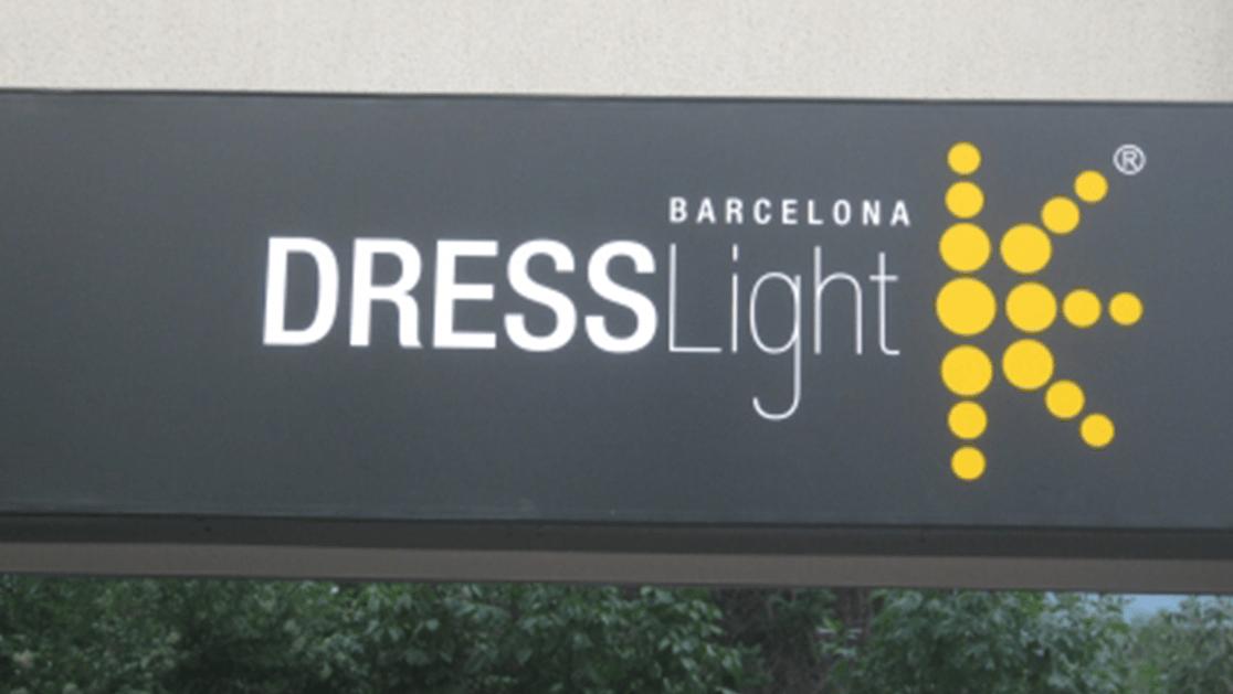 """Светеща винилна реклама - """"Dress Light"""""""