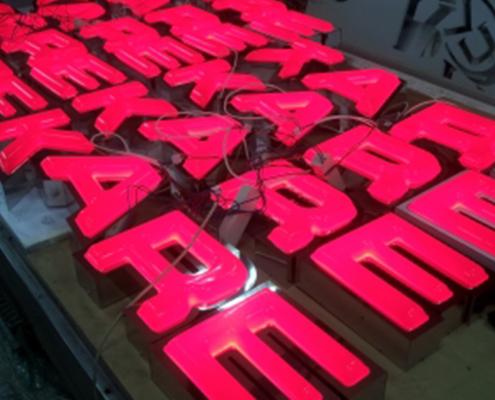 "Обемни светещи букви - ""KARE"""