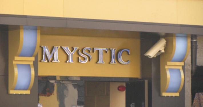"""Светещи обемни букви - """"Mystic club"""""""