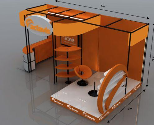 "3D Изложбен щанд - ""Actavis"""