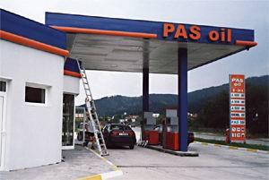 """Светещ тотем - """"PAS OIL"""""""