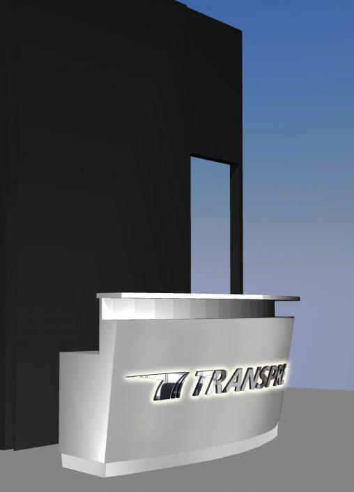 Визуализация интериорно лого Transpress