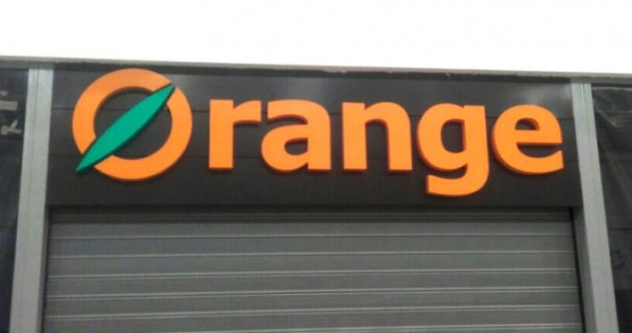 Светещ надпис Orange