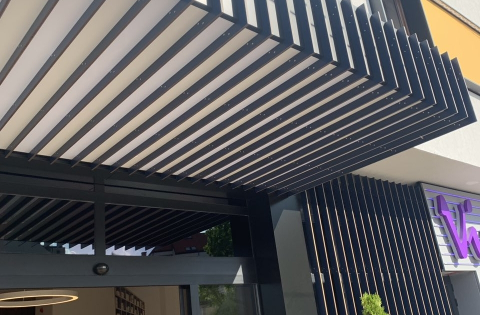 LED козирка Hotel Terminus
