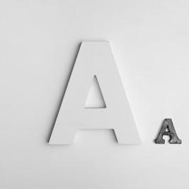 Обемни букви 1 - бяло а