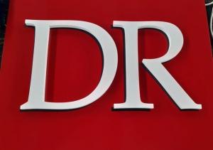 Обемни букви от 19 мм PVC с боя